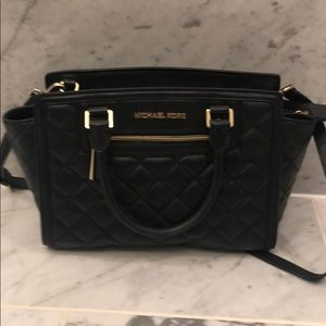 Quilted Black Michael Kors purse - GREAT CONDITION